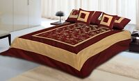 Silk Embroidered Brocade Bed Cover Bedspreads Bed-Sheet