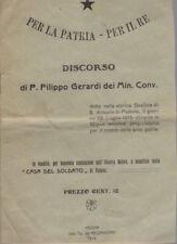 Per la patria per il re: discorso di p. Filippo Gerardi dei min. conv. detto nel