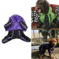 Puppy Dog Clothes Rain Coat 4 Feet Four Legs Raincoat Medium For Small New U3A7