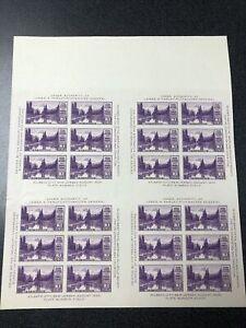 US 770 Mt. Rainier 3 Cents Souvenir Block Of 4 Sheets Mint No Gum As Issued 1935