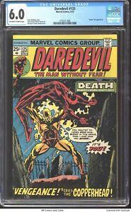 """Daredevil #125 1975 CGC 6.0 - """"""""Death"""""""" of Copperhead."""