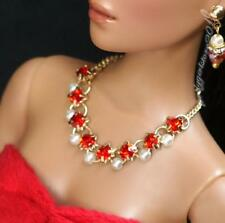 """Rhinestone Necklace and Earring Jewelry Set for 16"""" Tonner Tyler 095B"""