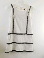 Tea Collection Girls 10 Gray Metallic Black Tulle Ruffle Sleeveless Dress