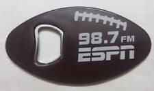 (8) ESPN 98.7 Lanyard/Football Beer Bottle Can Koozie/Cap Opener Keychain Lot