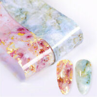 Nail Foils Marble Series Pink Blue Transfer Sticker Nail Decals Paper DIY Design