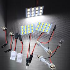 White 12 LED Lamp Dome Roof Light Panel T10 Festoon BA9S Adapter W1 C D B