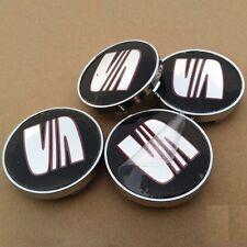 4 X Gorra De Centro De Rueda de Aleación de color gris asiento Hub Leon Ibiza Altea Alhambra Arosa 60mm