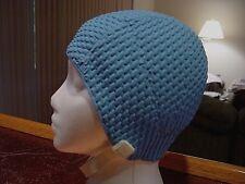 NEW VINTAGE BLUE WOMENS JANTZEN BUBBLE CREPE TEXTURED SWIMCAP SWIM CAP