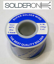 Solder 1.6mm 200g Roll 60/40 Resin Core - AU STOCK