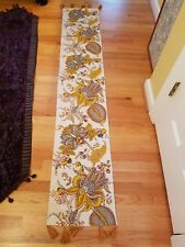 Fall Floral Table Runner - Cotton by World Market Tassels 72/13
