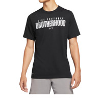 Nike T Shirt Mens Authentic Dri Fit Brotherhood Football Short Sleeve Tee Black
