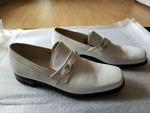 NEW FLORSHEIM SHOE WHITE LEATHER SLIP-ON MEN'S SHOES SIZE 10C