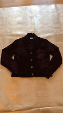 Chico's Fanfare Royale Purple Velvet Embroidered Mandarin Collar Jacket Size 0
