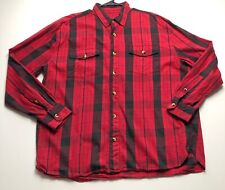 Magellan Men��s XXL Red Black Check Plaid Button Down Shirt Long Sleeves Camp