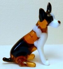 "HAND MADE BLOWN ""MURANO"" GLASS COLLECTABLE SITTING RAT TERRIER  DOG  FIGURINE"
