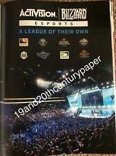 NEW! ACTIVISION / BLIZZARD 10 X 13 MAGAZINE AD CALL OF DUTY ARENA STARCRAFT -$2