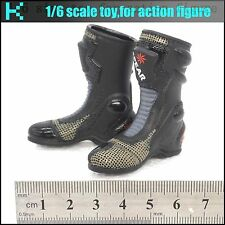 L06-37 1/6 scale action figure Motorcycle girl Black boots (hollow)