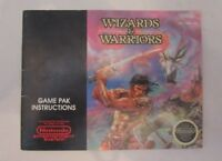 Wizards & Warriors Complete NES Nintendo Instruction Manual Booklet Only. 1987.