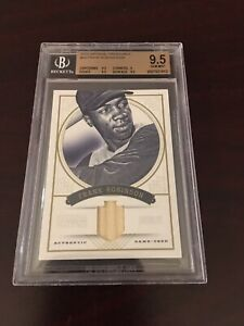 2012 NATIONAL TREASURES FRANK ROBINSON BGS 9.5 GEM #D /99 GAME USED BAT REDS HOF