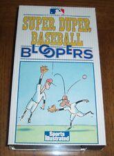 SPORTS ILLUSTRATED SUPER DUPER BASEBALL BLOOPERS 1989 VHS PRODUCED BY MLB PROD