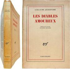 Les diables amoureux 1964 Guillaume Apollinaire notes Michel Décaudin S.P.