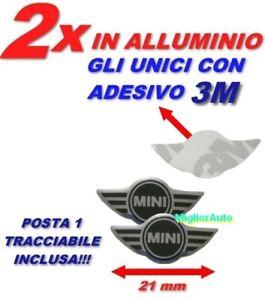 2x LOGO STEMMA MINI COOPER ADESIVO PULSANTE CHIAVE TELECOMANDO PER MINI 21mm