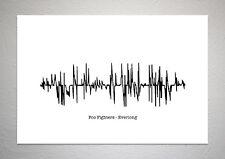 Foo Fighters - Everlong - Sound Wave Print Poster Art