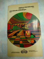 INDICATEUR OFFICIEL SNCB INTERNATIONALES CHEMIN DE FER BELGE 1976-1977