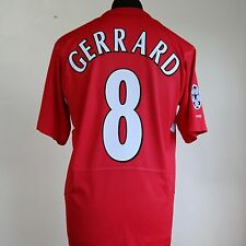 Liverpool Home UCL Shirt Adult Medium GERRARD #8 2004/2006 Istanbul 2005