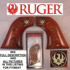 OEM RUGER Rosewood Laminated Wood Grips NO LOCK Single Six Ten Blackhawk Vaquero