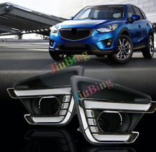 For Mazda CX-5 2012-16 Fog Light LED DRL Daytime Running Lights With Turn Signal