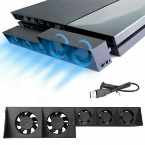 PS4 Game Accessories Cooling Fan Host Cooler External Station Turbo Cooling