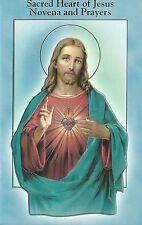 Novena Prayer Book Jesus Sacred Heart Color Vintage Bonella Art Catholic Booklet