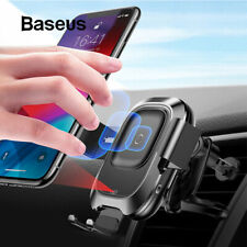 Baseus Fast Wireless Charger Car Mount Holder Vent HUAWEI P30 Pro/ Mate 20 Pro