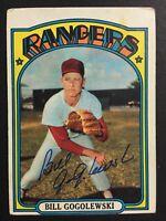 Bill Gogolewski Rangers Signed 1972 Topps Baseball Card #424 Auto Autograph 1