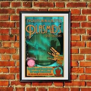 Bioshock Plasmids Advertisement Rapture Vintage Style Travel Poster Print Art