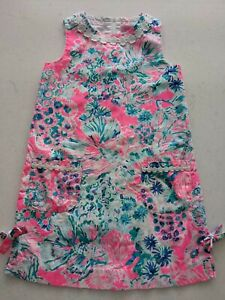 NEW Condition Lilly Pulitzer Girls Pink Floral Sleeveless Dress/Sundress-size 8
