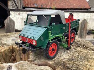 1/18 scale Schuco 00145 Mercedes Benz Unimog 2010 Tractor Traktor tracteur