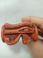 RARE ANTIQUE ANCIENT EGYPTIAN Big Ring Eye of Horus Luck Hiroglyphic 1372 Bc