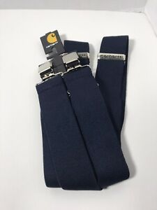"CARHARTT 45002 Black 2"" Clip On SUSPENDERS Adjustable Size 52"" Brand New"