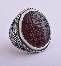 Islamic Silver Yemen agate aqeeq aqiq akik Men Ring-yemeni