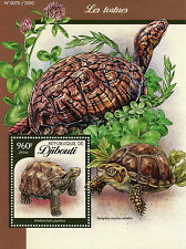 Djibouti 2016 MNH Turtles 1v S/S Reptiles Tortues Aldabra Giant Tortoise Stamps