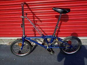 Vintage DAHON Stainless Steel Folding Bike Blue.