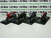LOT 4X 1/18 IXO MOTOS : Kawasaki NIJA, BMW S1000RR, YAMAHA YZF, DUCATI monster