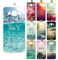 COVER Custodia oceani paesaggi 3D per Samsung Galaxy J1 J5 J7 A3 A5 A7 & 2016