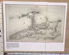 "Antique vintage historical map 1700s: Alexandria, Egypt 13 X 8"" Reprint 1798c"