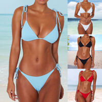 Hot Women Push up Padded Bra Bandage Triangle Bikini Set Sexy Swimsuit Beachwear