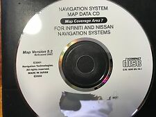 OEM INFINITI & NISSAN NAVIGATION MAPE COVERAGE AREA 7 VERSION 5.2 RELEASED 2002