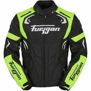 Furygan Blast Motorcycle Bike CE Jacket Black/Yellow