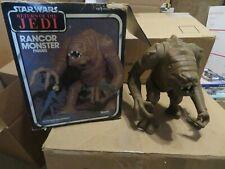 Vintage Star Wars Rancor Monster Figure w ROTJ Box/Insert Kenner Complete 1983
